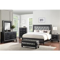 NEW CLASSIC KANTI BLACK QUEEN BEDROOM B24B-310/320/330/050/060/040 Image